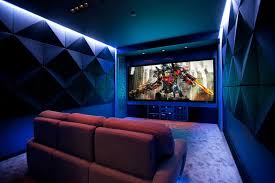 Home Theater Ceiling Lighting Contemporary Home Theater With Flat Home Theater Ceiling And