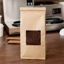1 lb brown kraft customizable tin tie coffee bag with window image preview