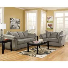 Cobblestone Exeter Living Room Group 8 Pc With 3 Pc Table Rug