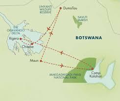 Botswana Map Classic Botswana September 2015 Zegrahm Expeditions