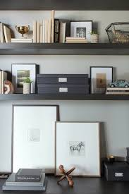Decorative Hanging File Boxes Image Via Decor Pad Office Vignette With Espresso Floating