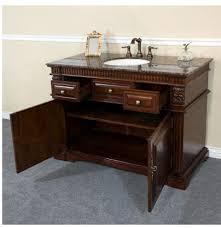 50 Inch Double Sink Vanity Bellaterra Home 50 Inch Single Sink Bathroom Vanity Dark Walnut