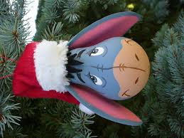 eeyore light bulb christmas ornament handmade diy christmas