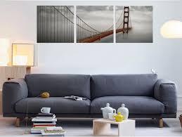3pcs set square golden gate bridge fashion home decor wall art