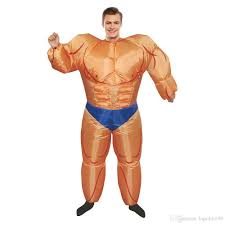 Muscle Man Halloween Costume Halloween Costume Lovely Fitness Instructor Inflatable