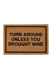 clever doormats turn around unless you brought wine brown coir