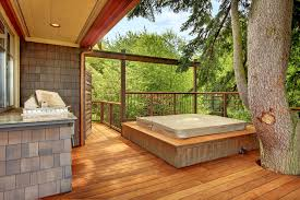 Patio Around Tree Tub Enclosures Patio Traditional With Stone Fireplace Outdoor