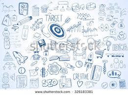 doodle presentations sketch business processes management marketing finance stock