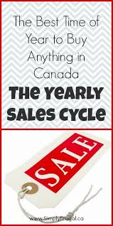the best time of year to buy anything in canada the yearly sales