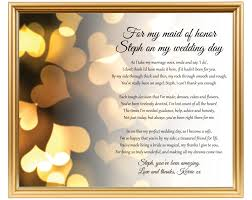 gifts to give the from the of honor of honor poem gift chief bridesmaid poem personalized