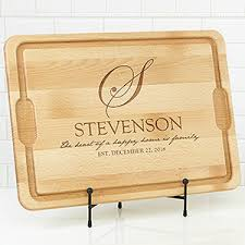 personalized cutting boards personalized maple cutting board heart of our home for the home
