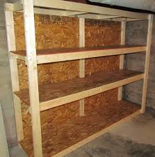 Wooden Shelves Diy by How To Make A Basement Storage Shelf