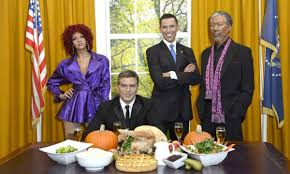 your turn obama turkey day courtesy madame tussauds reading the
