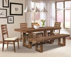 small dining room design ideas with rounded wood dining table set