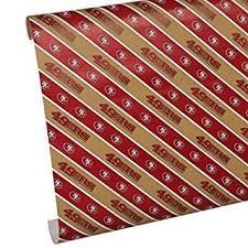 Amazon Gift Wrap Paper - amazon com san francisco 49ers gift wrap sports u0026 outdoors