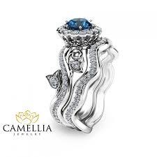unique engagement ring settings unique engagement ring white gold blue topaz engagement ring