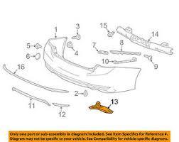 honda accord bumper cover honda oem 16 17 accord rear bumper cover right 71504t2fa50 ebay