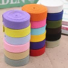 thick ribbon 2cm thick canvas cotton webbing ribbon bag belt