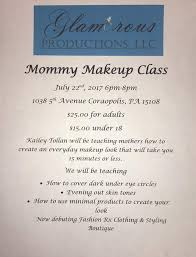 Makeup Schools In Pa Mommy Makeup Class Glamorous Productions U2014 Coraopolis Business