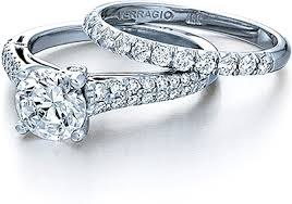 verragio engagement ring with two rows of pave diamonds eng 0394 - Two Engagement Ring