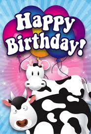 Cow Birthday Card Cows Birthday Card Png
