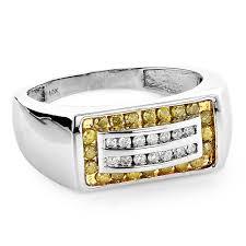 unique mens unique men s diamond bands 10k gold white yellow diamonds ring
