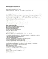 Examples Of Communication Skills For Resume by Maintenance Resume 9 Free Word Pdf Documents Download Free