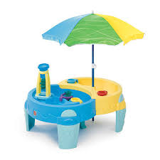 step 2 water table with umbrella step2 shady oasis sand and water play table activities for kids