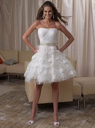 sheer white bridal gowns sweetheart knee length chiffon feathers