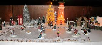 Christmas Town Decorations Christmas Village Display Getting To Know Co