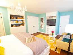 nice blue and yellow bedroom in home decor ideas with blue and