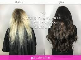 in extensions before and after hair pics by hair extensions denver