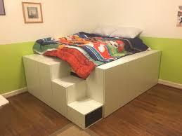 Ikea Platform Bed With Storage Bedroom Ikea Hacks Bedroom Storage Hack Malm Headboard Beds