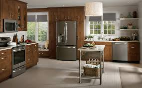 accessories contemporary kitchen with ge slate appliances and