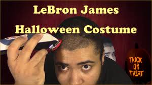 lebron james halloween costume tutorial youtube