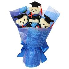 graduation bears 3 foam bears graduation day flower bouquet comes in box of 30