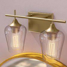 gallego 3 light glass shade vanity light you ll love the gallego 3 light glass shade vanity light at joss