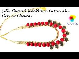 necklace making charms images How to make silk thread necklace at home simple and easy tutorial jpg
