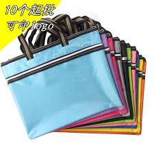 pochette bureau b4 portable couche fichier zip sac bureau réunion papier sac
