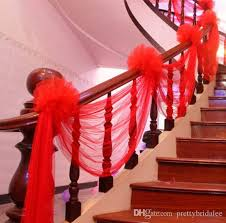 hindu wedding decorations for sale wholesale tulle stair armrest decoration wedding party suppliers