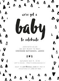 black and white baby shower invitations black and white baby