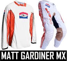 retro motocross gear jt racing classick motocross mx kit pants jersey white orange