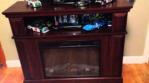 whalen brown cherry tv stand whalen fireplace console tv entertainment center customer review