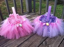 Diy Easter Basket Tutu Easter Baskets For Twin Girls I Made This Pinterest