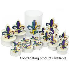 mardi gras cups mardi gras fleur de lis tea lights 6 cdn96016