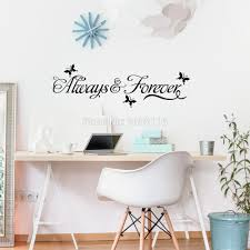 online get cheap wall stickers love quotes aliexpress com love quotes always forever wall stickers for living room butterflies wall vinyl decals bedroom decoration