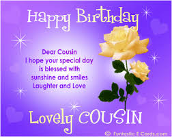 cousin birthday card happy birthday lovely cousin pictures photos and images for