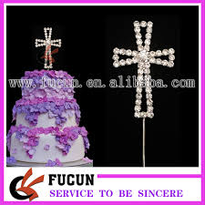communion cake toppers 30 pieces lot small rhinestone cross baptism christening