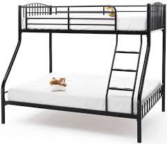Buy Serene Oslo Black Metal Three Sleeper Bunk Bed Online CFS UK - Three sleeper bunk bed