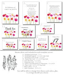 printable wedding invitation kits wedding invitation kit 6 printable gerbera templates
